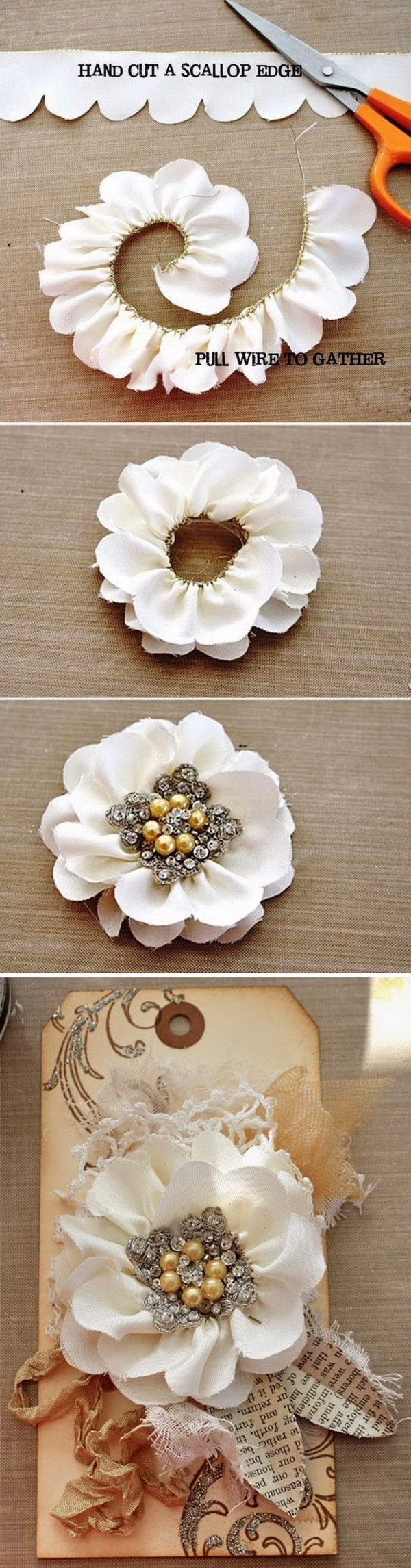 DIY Scalloped Edge Flowers