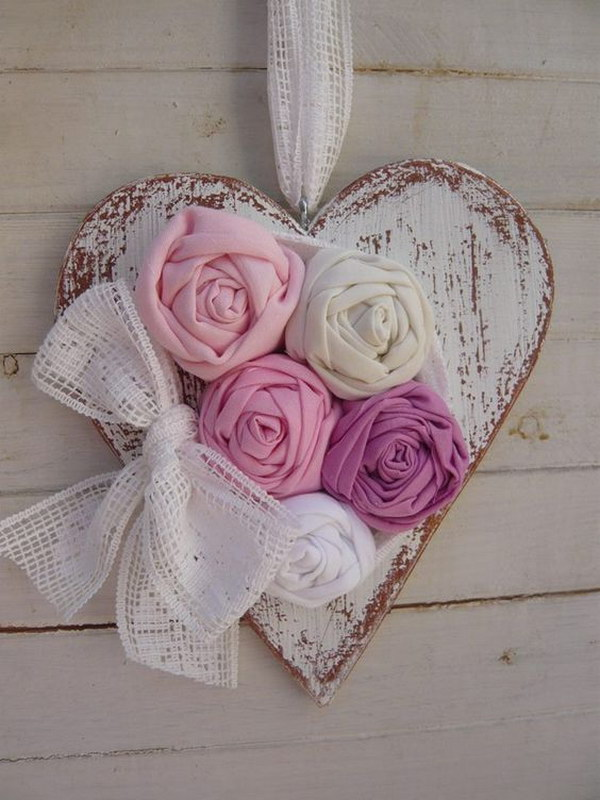 DIY Shabby Chic Heart