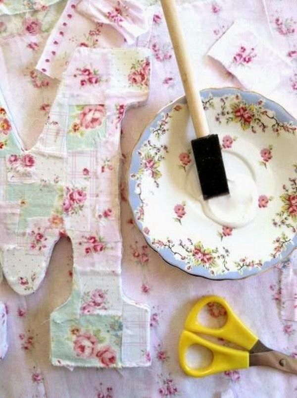 DIY Shabby Chic Decoupaged Monogarm