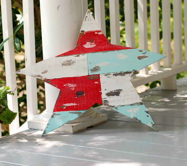Shabby Painted Pallet Wood Art.