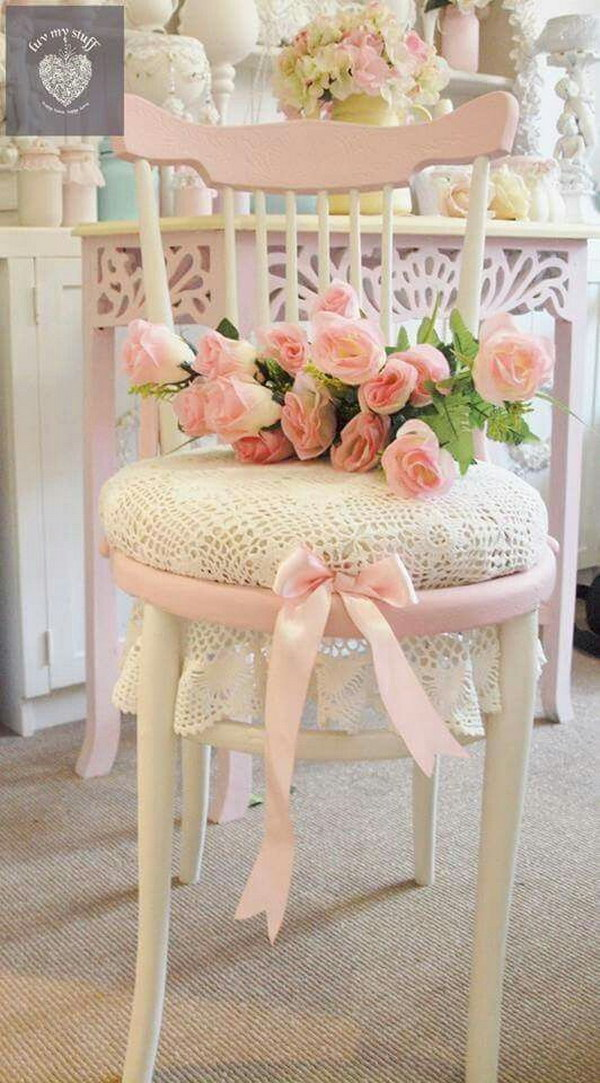 Awesome Shabby Chic Pink Chair
