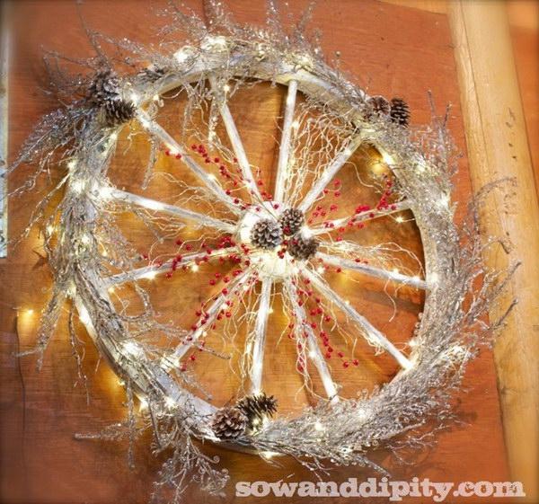 Wagon Wheel Wreath.