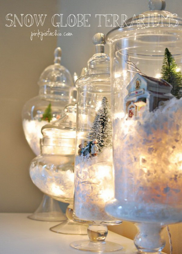 Snow Globe Terrariums.