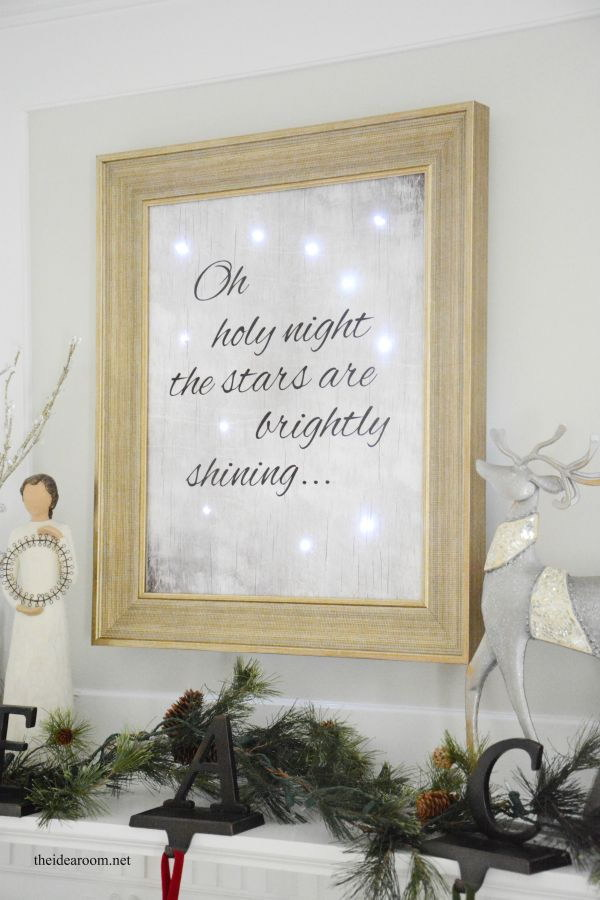 Lighted Christmas Sign.
