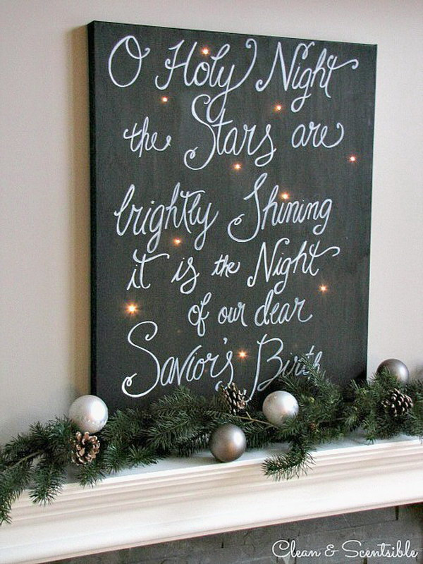 Twinkling Christmas Canvas Art.