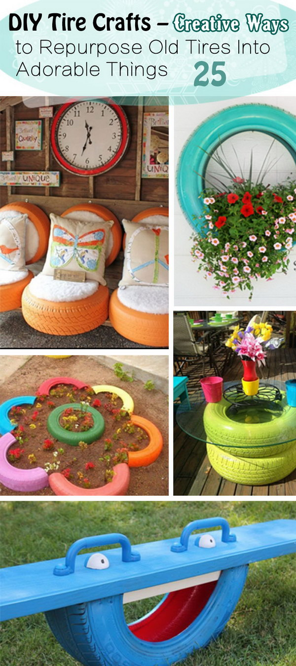 25 diy tire crafts creative ways to repurpose old tires - What to make with old tires ...