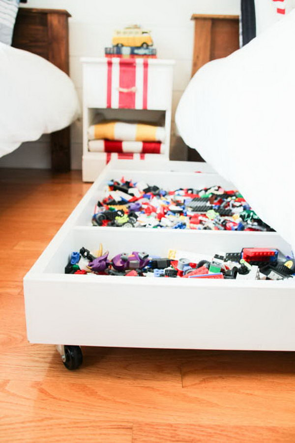 Diy Under Bed Rolling Lego Storage Cart This Creative Makes It Really Easy