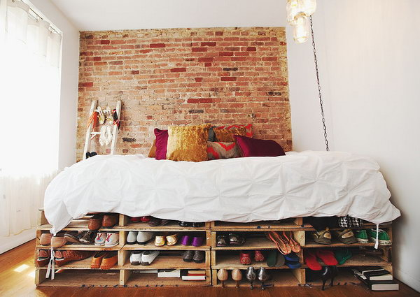 DIY Under Bed Shelves for Shoe Storage & Creative Under Bed Storage Ideas for Bedroom