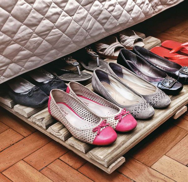 Wood Rack Shoe Organizer Under Bed. Both Inexpensive And Functional Storage  Solution For Your Shoe