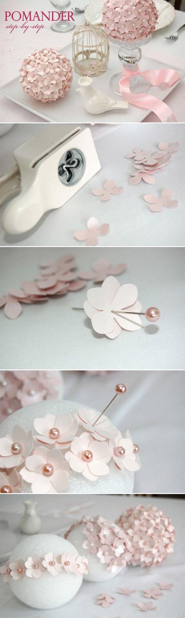 DIY Flower Ball Wedding Centerpiece