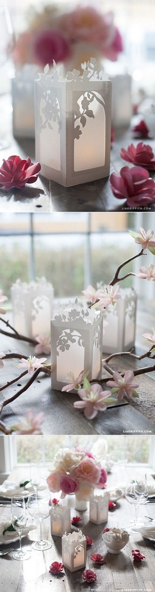 DIY Paper Lanterns Wedding Centerpieces