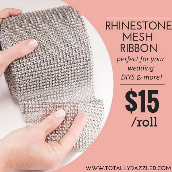 Diamond Mesh Wrapped Centerpieces.