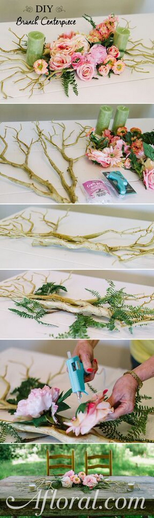 DIY Branch Centerpiece