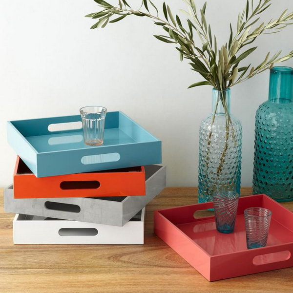 West Elm Knock Off: Lacquer Trays.