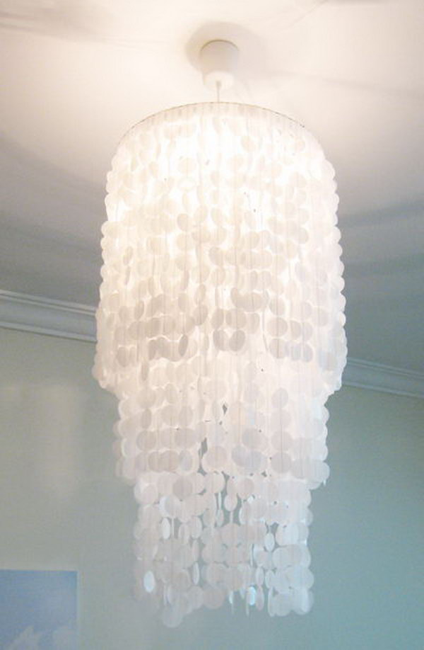 DIY Capiz Chandelier.