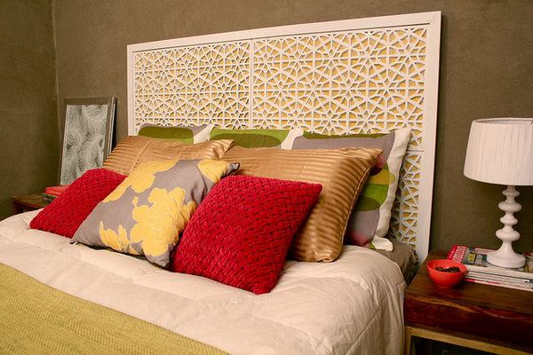 DIY West Elm Morocco Headboard.