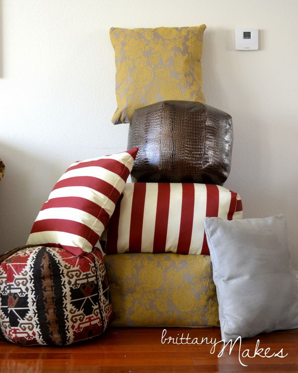 Sewing Floor Poufs Inspired by West Elm.
