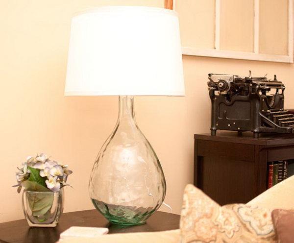Homemade West Elm-inspired Lamp.