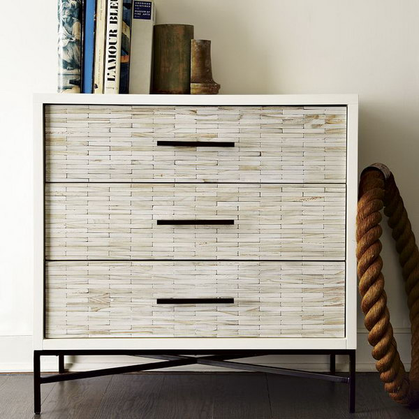 DIY West Elm-Inspired Wood Tile Dresser.
