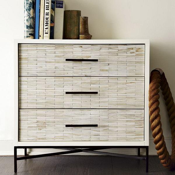 DIY West Elm-Inspired Wood Tile Dresser.