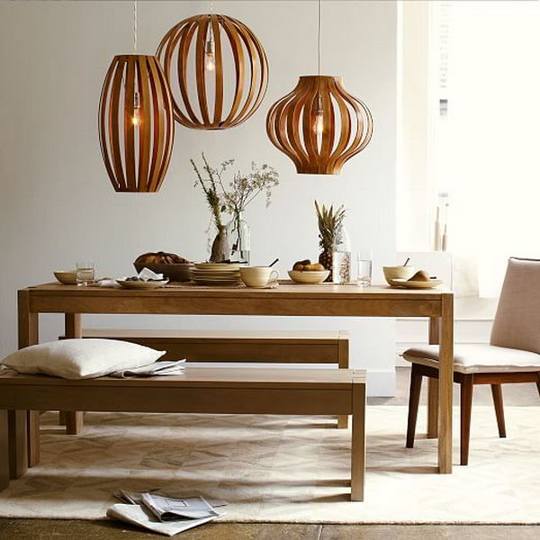 DIY Bentwood Pendant Light.