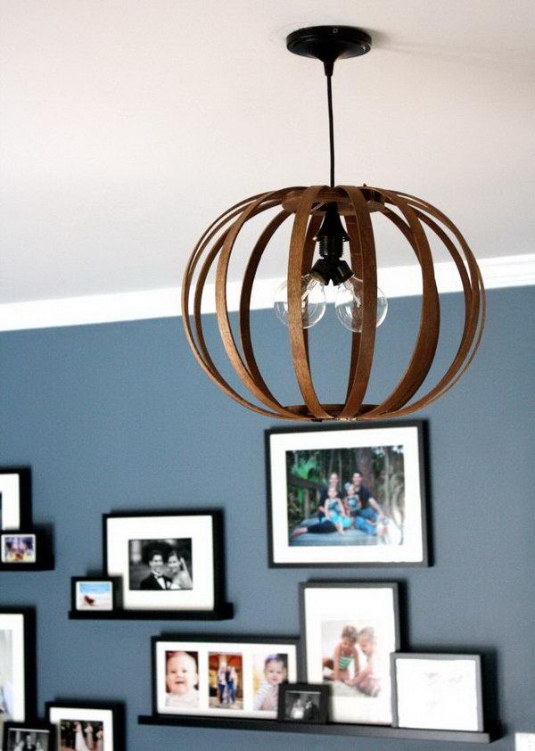 DIY Bentwood Pendant Light.