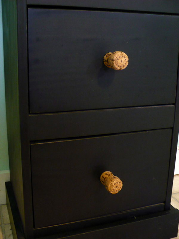 DIY Cork Drawer Knobs