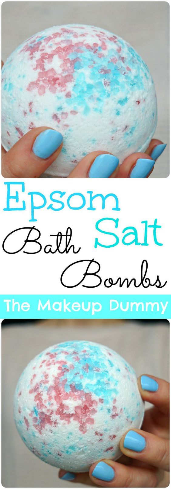 DIY Bath Bombs With Epsom Salt.