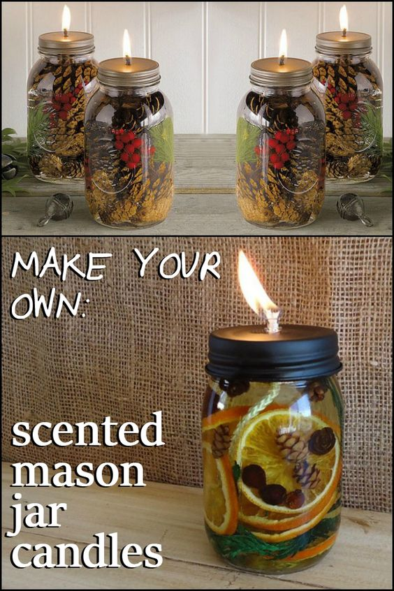 DIY Scented Mason Jar Candles.
