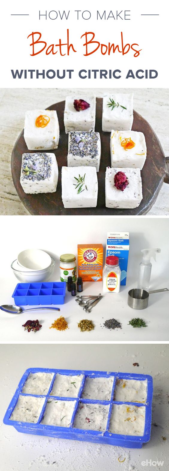 DIY Bath Bombs Without Citric Acid.