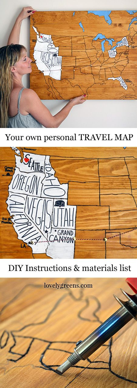 Remember Your Journeys and Adventures with a DIY Personal Travel Map.