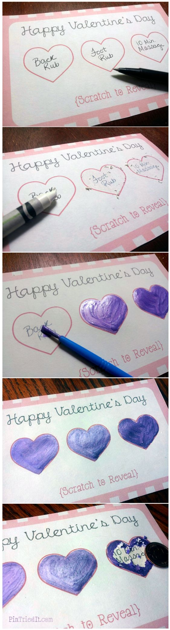 valentines day scratch off ticket - Homemade Christmas Gifts For Boyfriend