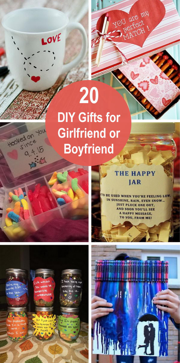 20 DIY Gifts for Girlfriend or Boyfriend.