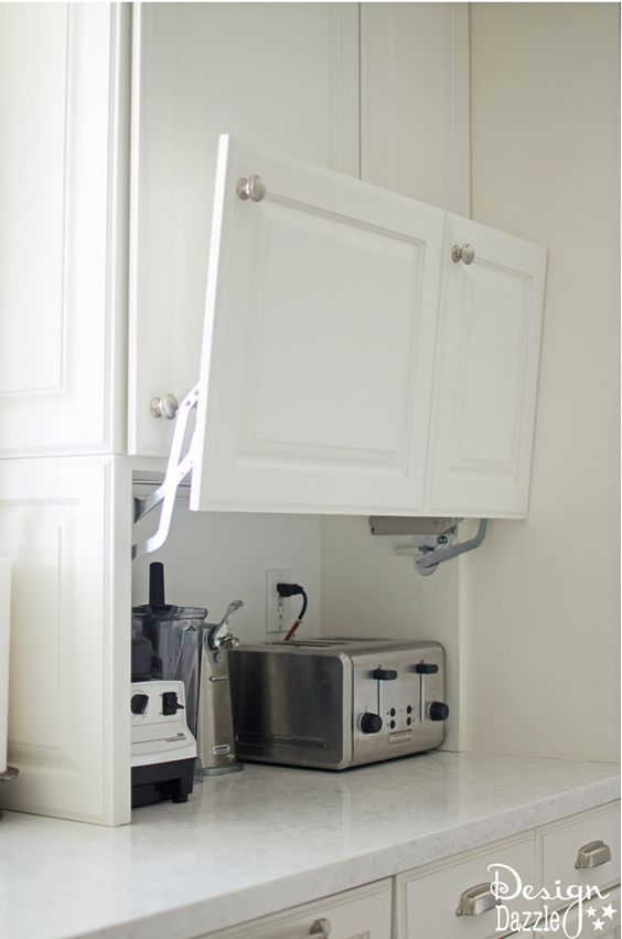 Creative Hidden Kitchen Storage Solution.