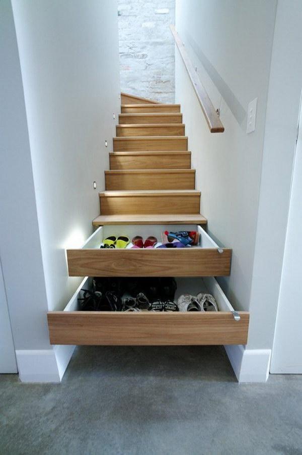 Stairs Drawers Hidden Storage.