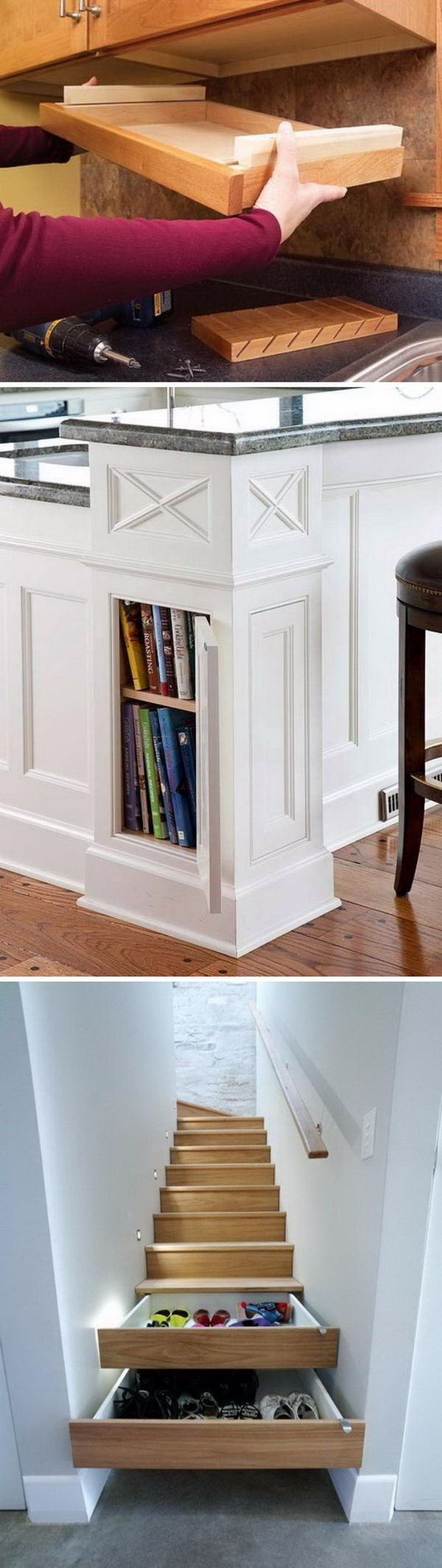 20 clever hidden storage ideas perfect for any home for Clever hidden storage