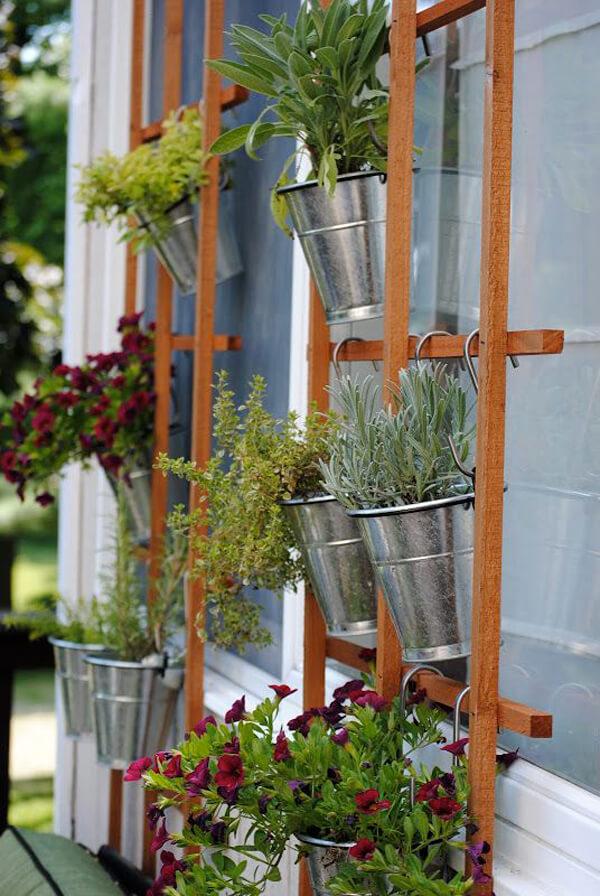 Hanging Bucket Planters.