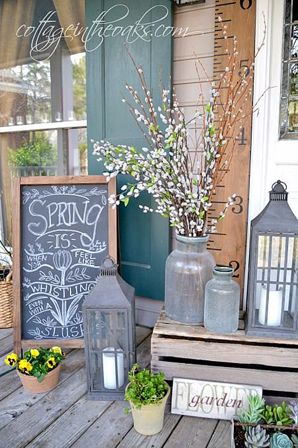 Spring Cottage Porch Decoration