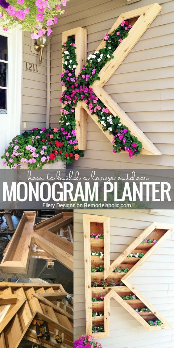 Add Some Spring Color To Your Front Porch With This Extra Large Monogram Planter