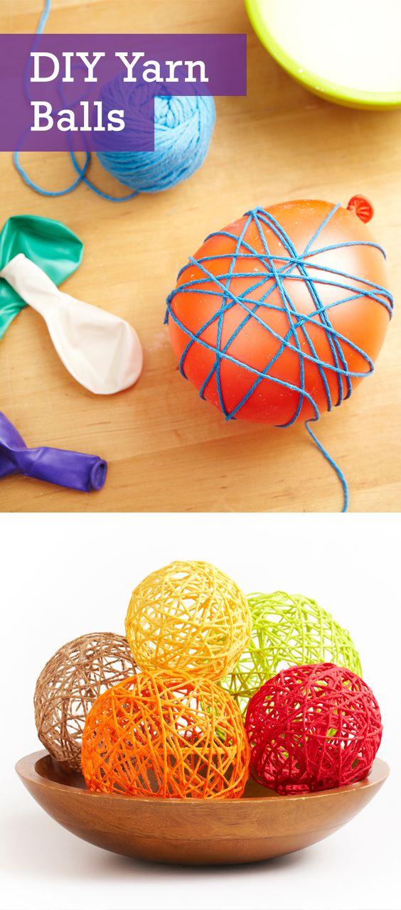 DIY Yarn Balls.