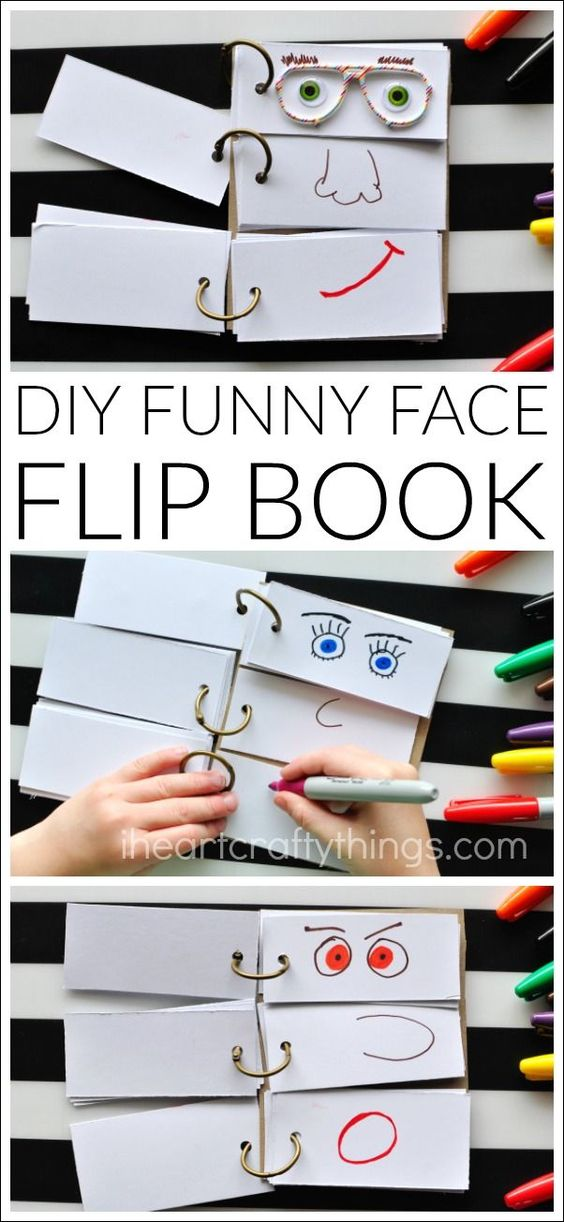 DIY Funny Face Flip Book.