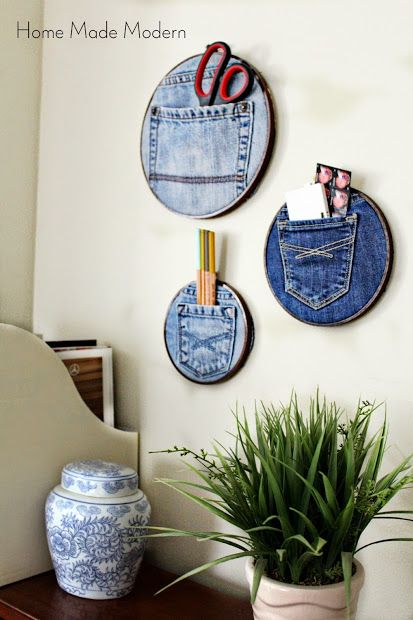 Denim Pocket Organizers.