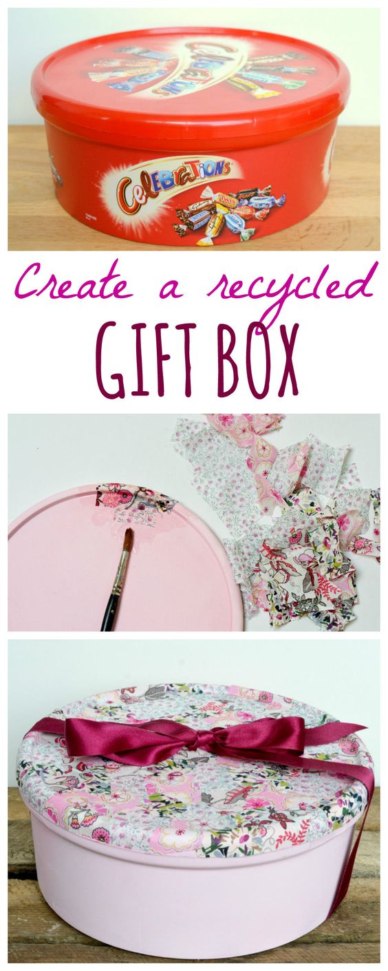 Recycle Sweet Tins Into Gift Boxes.