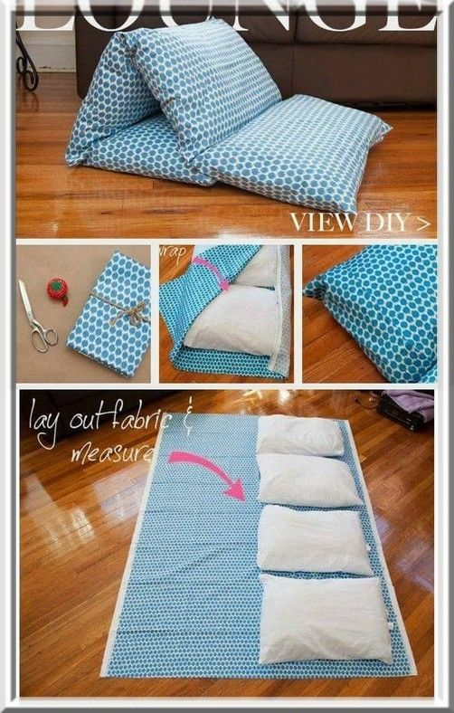 Easy DIY Pillow Bed.