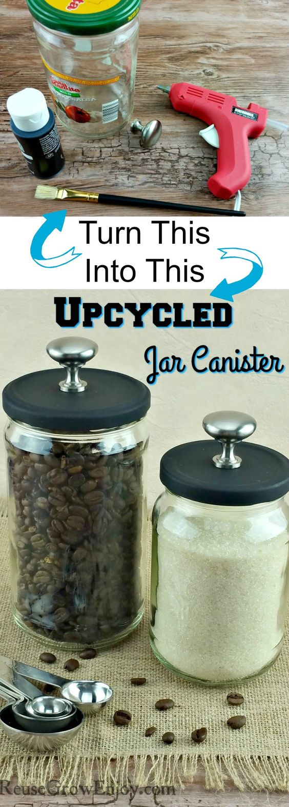 Upcycled Jar Canister.