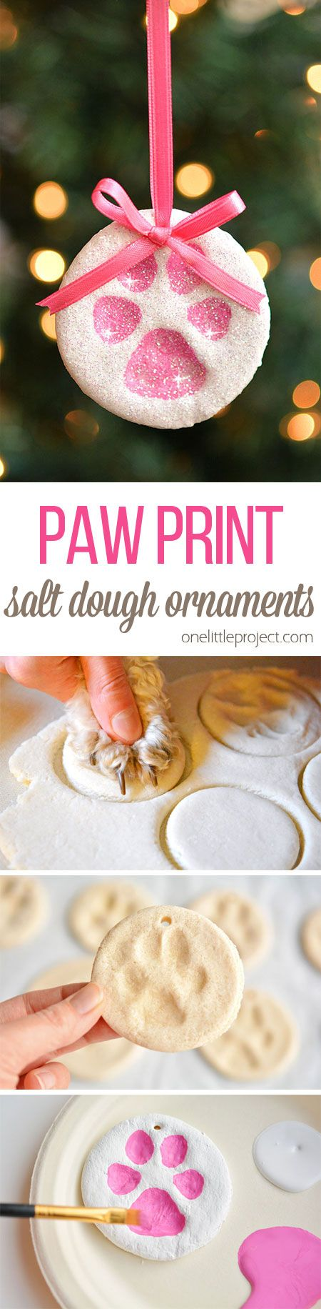 Paw Print Salt Dough Ornaments.