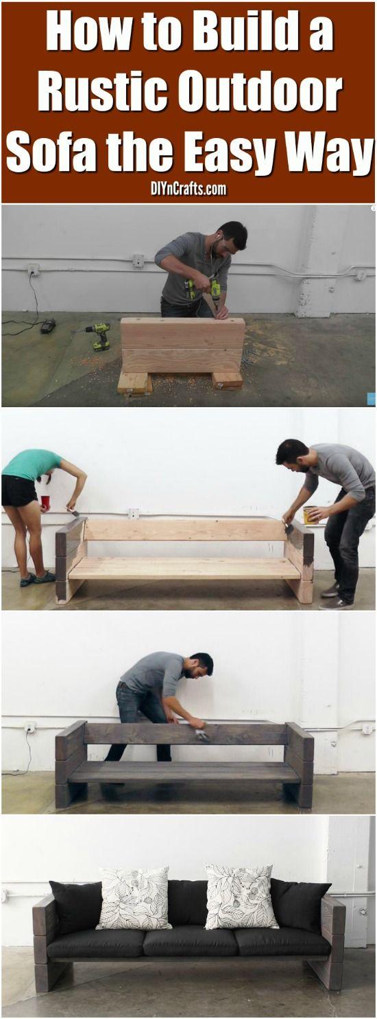 Easy Way to Build a Rustic Outdoor Sofa.