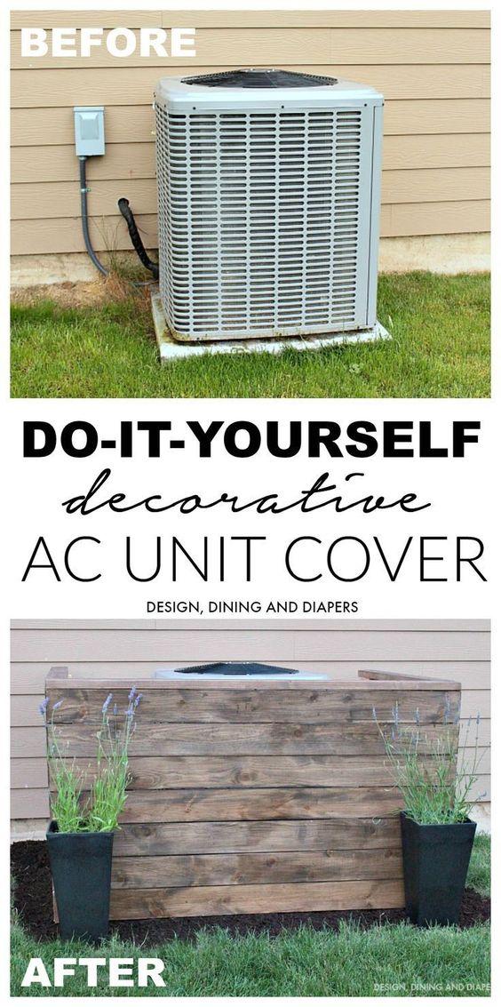 DIY AC Unit Cover.