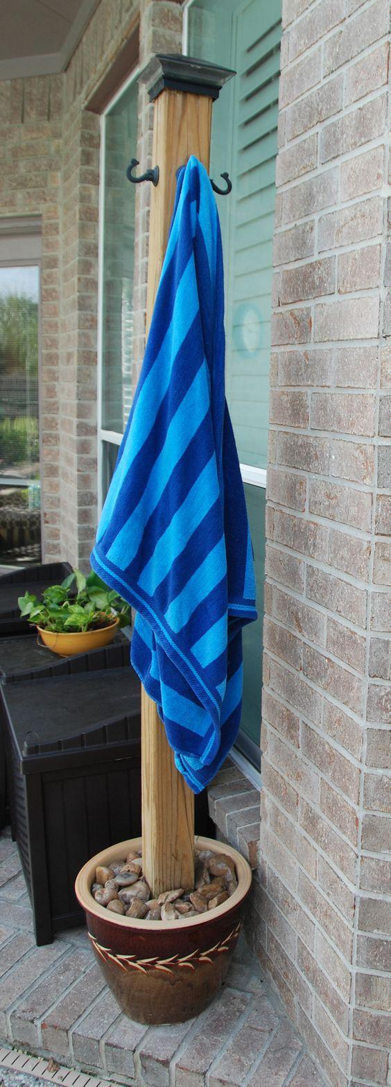 DIY Pool Towel Holder.