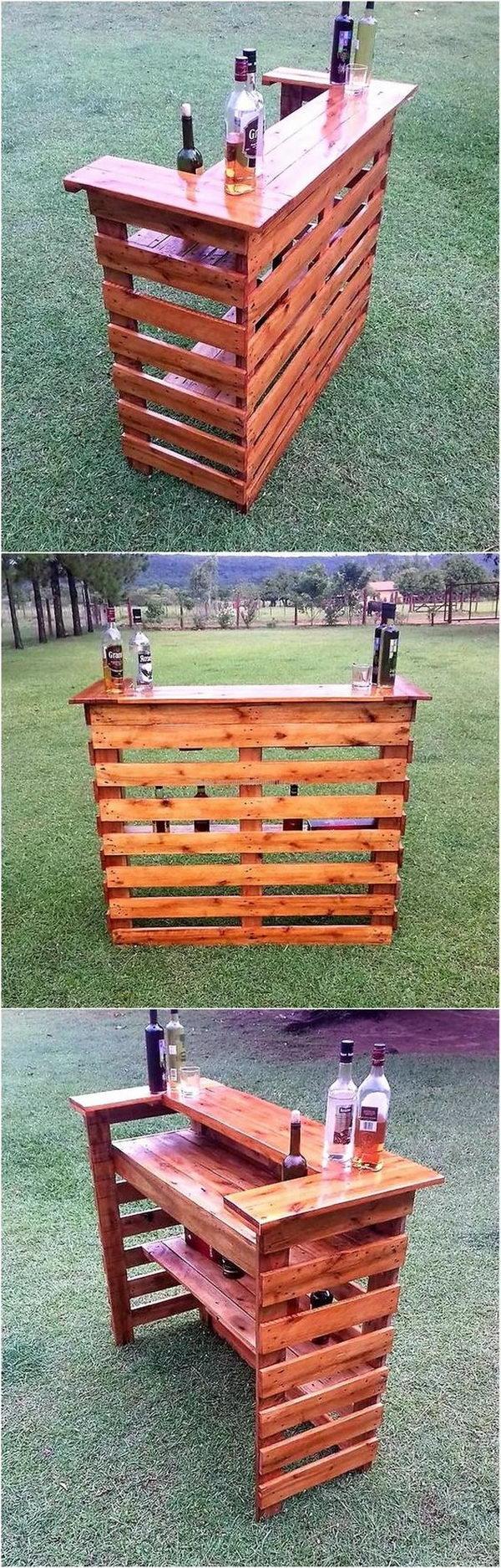 DIY Wood Pallet Bar.